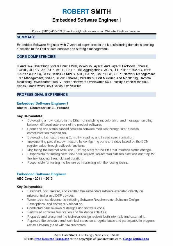 embedded software engineer resume samples qwikresume with years experience pdf filling Resume Resume With 2 Years Experience