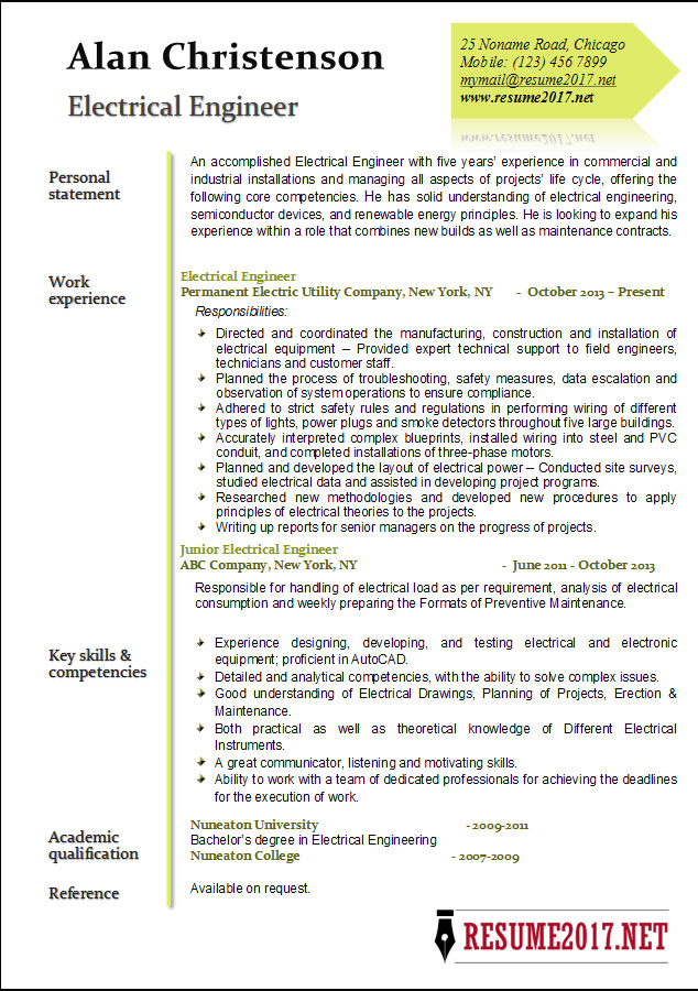 engineer resume examples core competencies electrical template cover photo paper supply Resume Core Competencies Resume 2017
