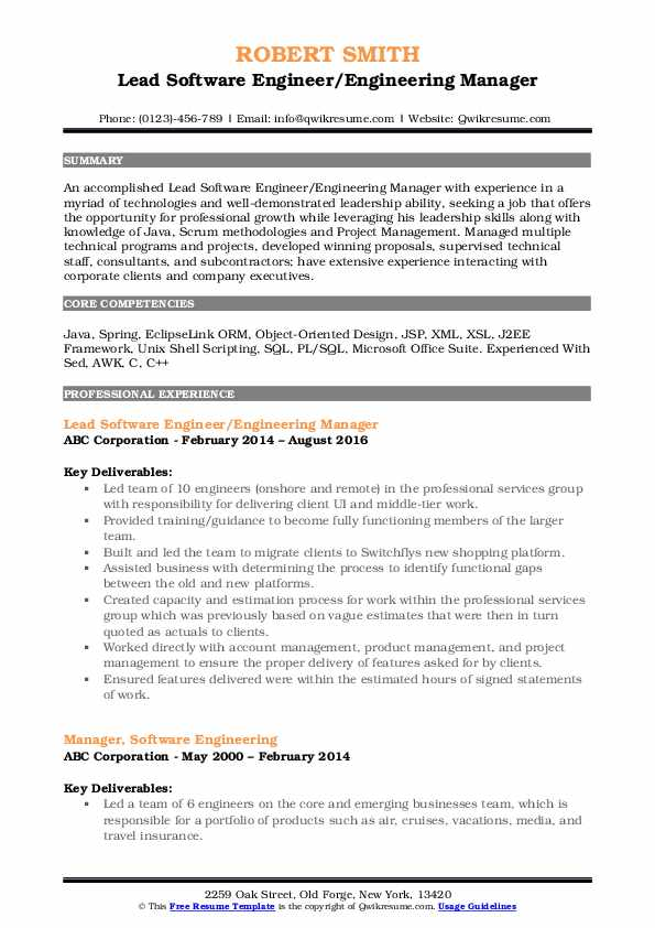 engineering manager resume samples qwikresume software pdf experience format one year for Resume Software Engineering Manager Resume