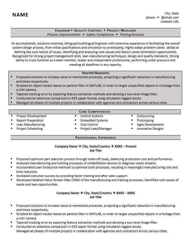 engineering resume example great tips to writing one sample professional engineer Resume Sample Professional Engineer Resume