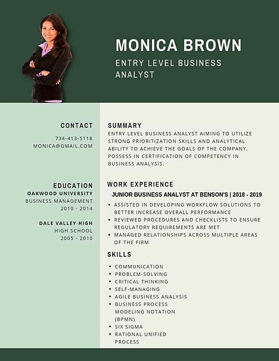 entry level business analyst resume samples templates pdf word junior resumes bot example Resume Entry Level Business Analyst Resume