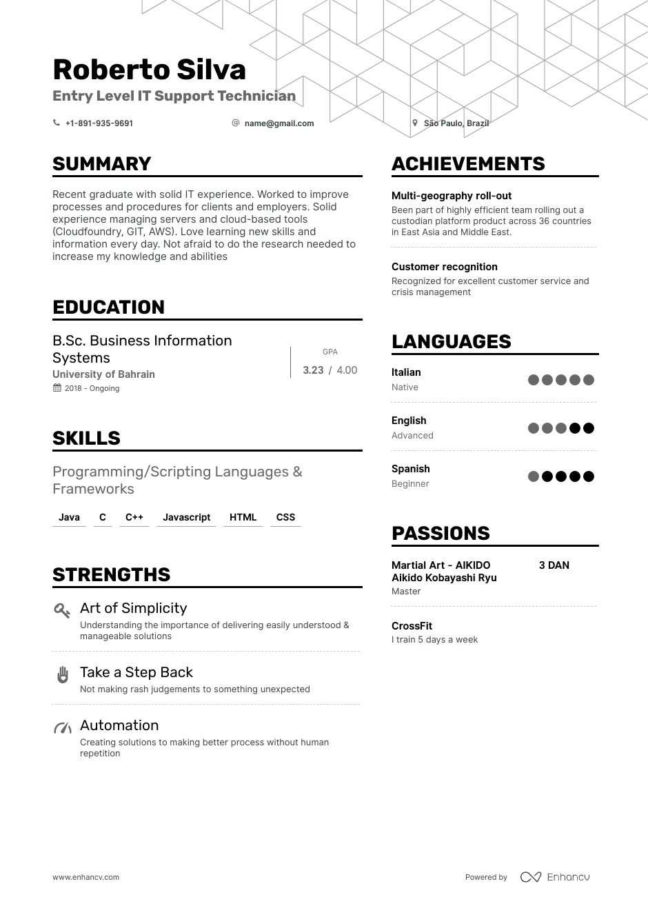 entry level it resume examples expert advice enhancv information technology oracle for Resume Entry Level Information Technology Resume Examples