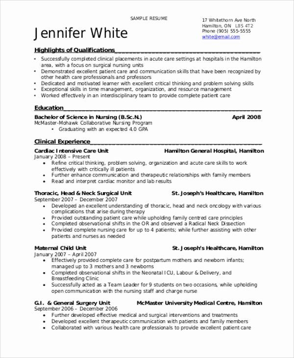 entry level nursing student resume with no experience pdf best examples clinical making Resume Clinical Experience Resume Nursing Student