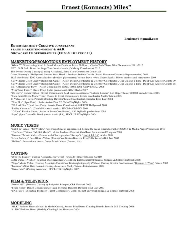 ernest konnects miles entertainment resume pdf theater producer his work volunteer Resume Theater Producer Resume