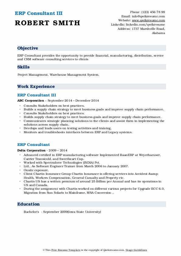 erp consultant resume samples qwikresume with experience pdf lying on your easy template Resume Resume With Erp Experience