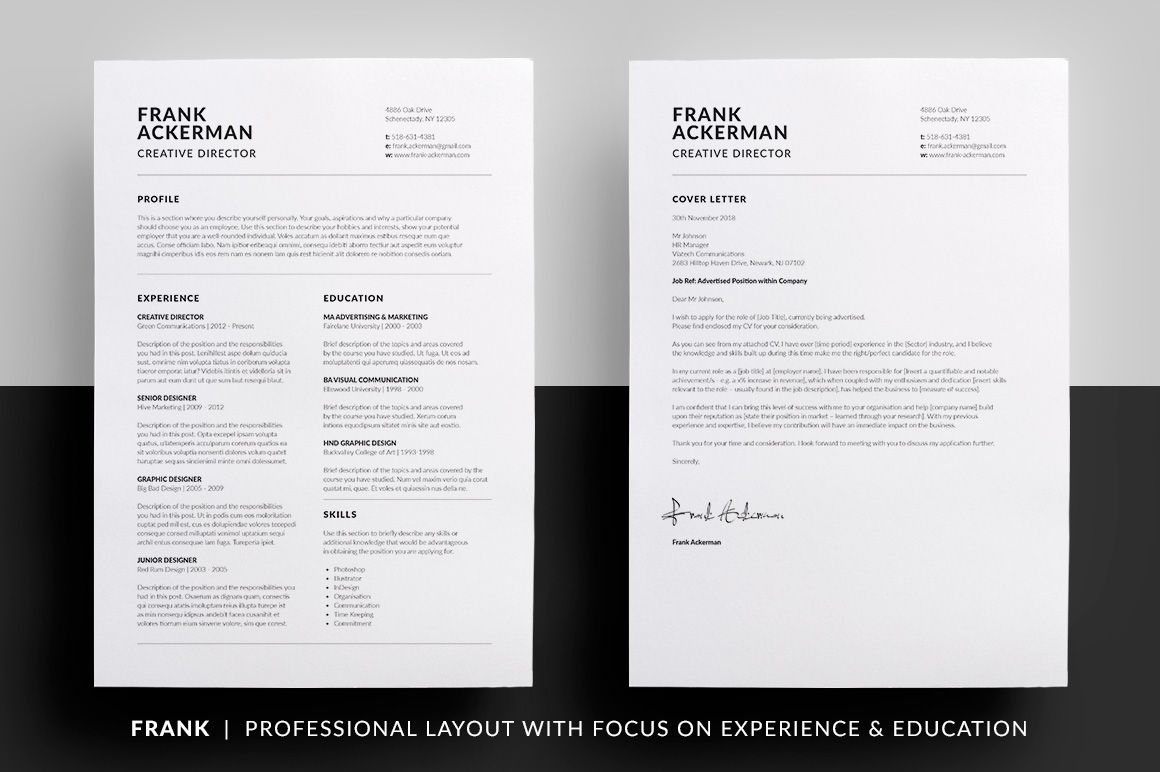 essential resume collection lettering cover letter template word minimalist design Resume Resume Minimalist Design