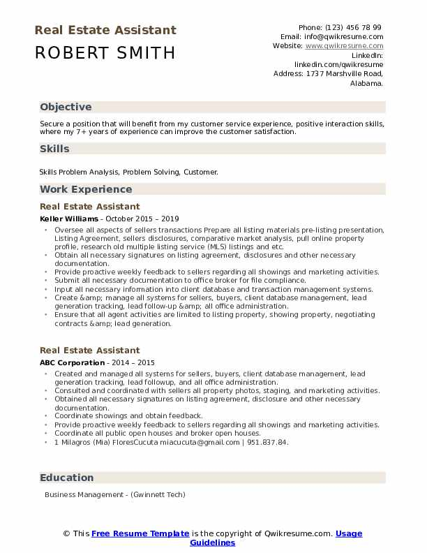 estate assistant resume samples qwikresume objective pdf great typing up for job Resume Real Estate Resume Objective