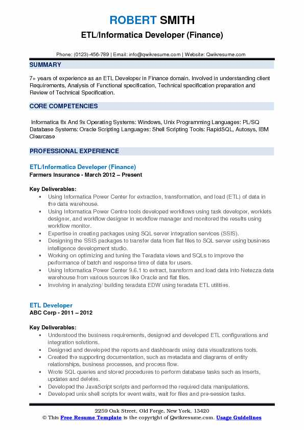 etl informatica developer resume samples qwikresume for years experience pdf draft Resume Informatica Developer Resume For 5 Years Experience