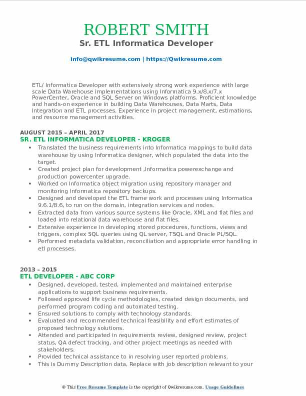 etl informatica developer resume samples qwikresume for years experience pdf grad student Resume Informatica Developer Resume For 5 Years Experience