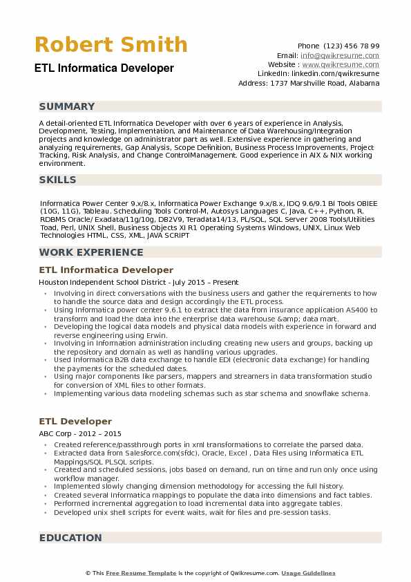 etl informatica developer resume samples qwikresume for years experience pdf on login Resume Informatica Developer Resume For 5 Years Experience
