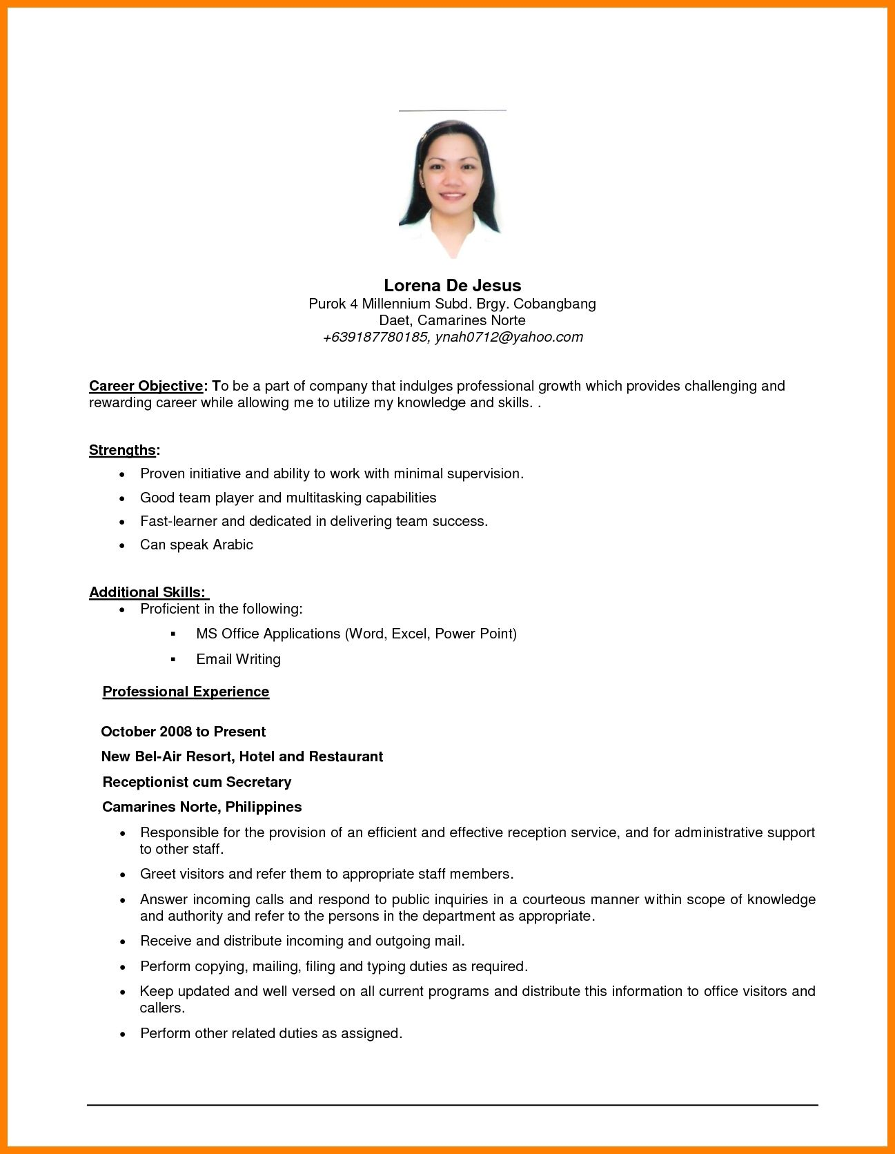 example of resume objective templates examples objectives career for job sample any Resume Sample Objective For Resume For Any Position