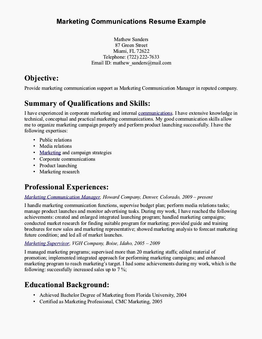 examples of communication skills for resume fresh cover letter excellent verbal and Resume Communication Resume Examples