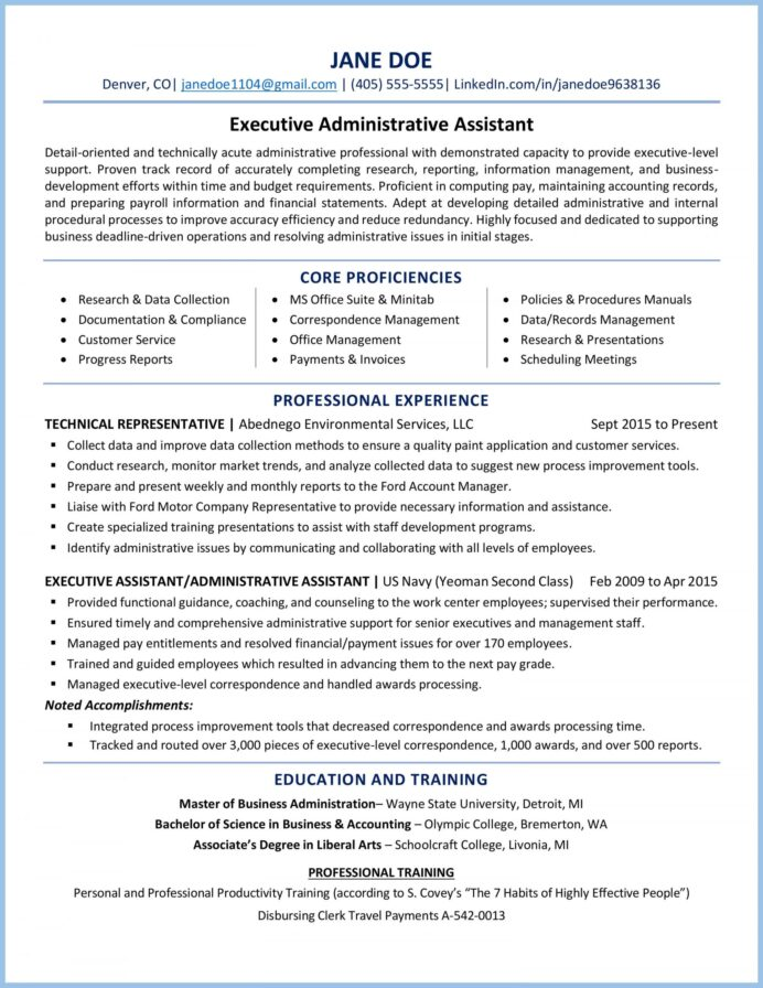 executive administrative assistant resume example professional dht5rqzz0ssie0qvhbnj Resume Professional Administrative Assistant Resume