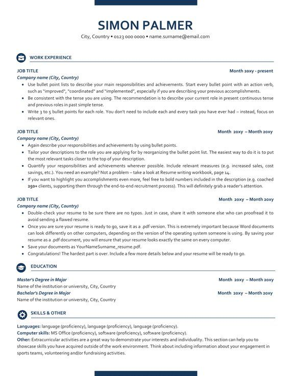 executive resume template ats friendly with icons etsy in templates free director of Resume Ats Friendly Resume Template Free 2019