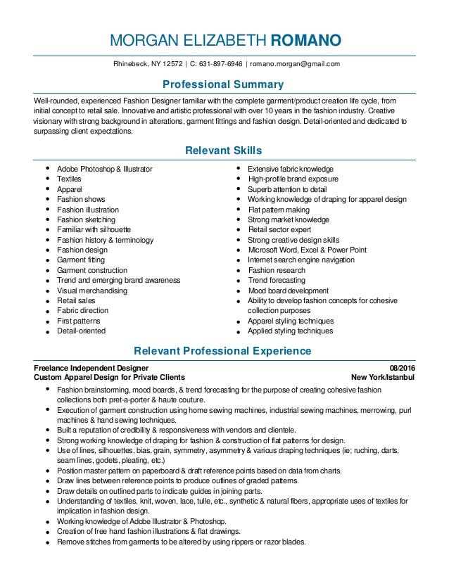 fashion design and merchandising resume pdf industry services simple format examples Resume Fashion Industry Resume Services