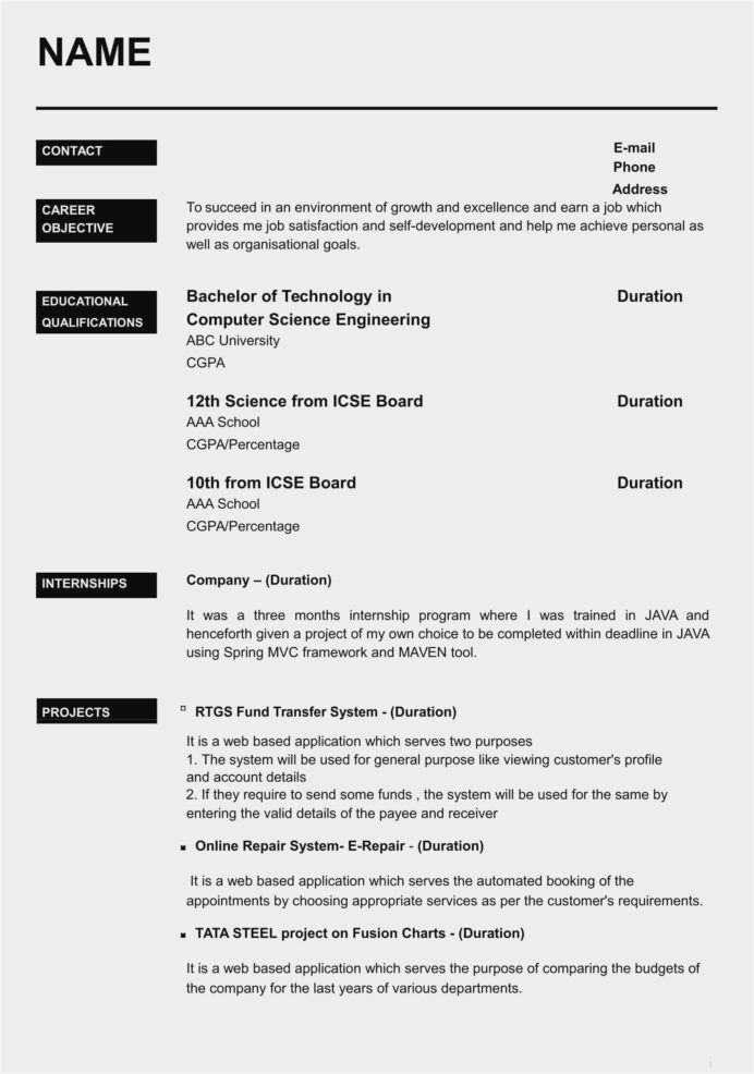 fashion designer resume template free sample format for freshers with photo standard Resume Free Download Resume Format For Freshers With Photo