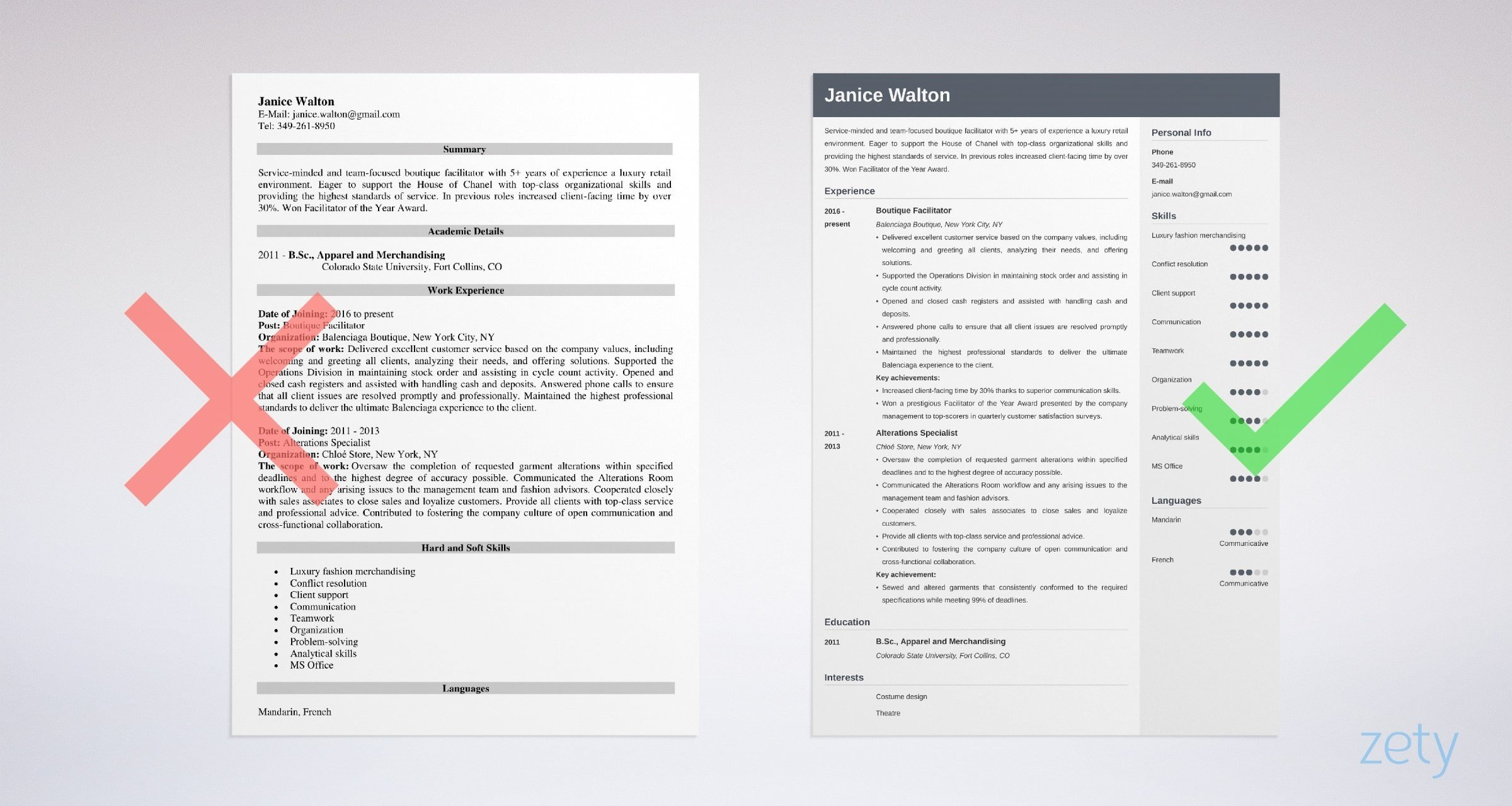 fashion resume examples templates guide with tips industry services example create google Resume Fashion Industry Resume Services