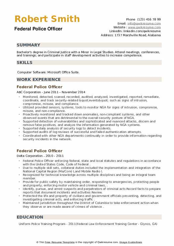 federal police officer resume samples qwikresume law enforcement examples pdf quality Resume Law Enforcement Resume Examples