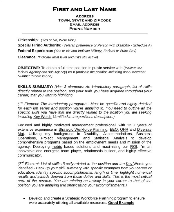 federal resume template free word excel pdf format premium templates example data Resume Federal Resume Example 2018