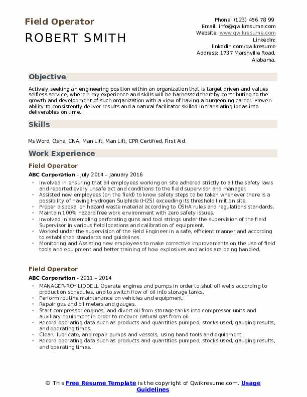 field operator resume samples qwikresume objective for oil and gas pdf fiber optic Resume Objective For Resume Oil And Gas