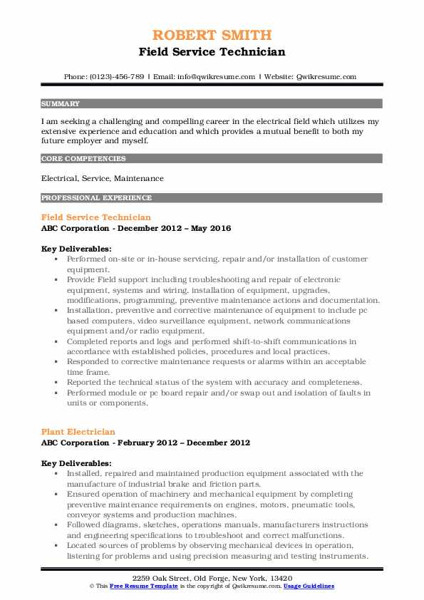 field service technician resume samples qwikresume sample pdf payment processing dual Resume Field Technician Resume Sample