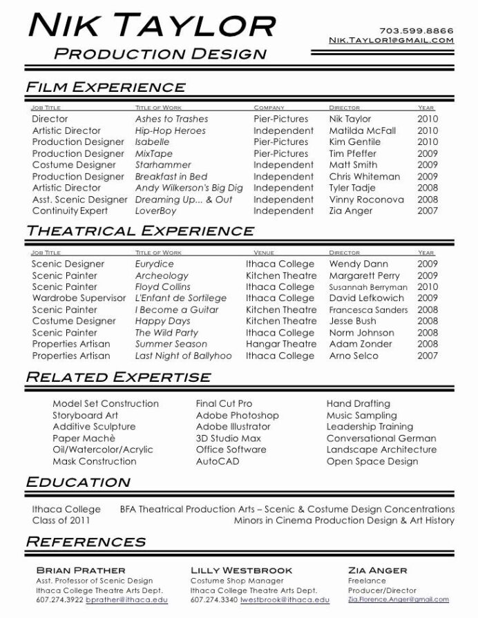 film production assistant resume luxury acting job samples examples theater producer Resume Theater Producer Resume