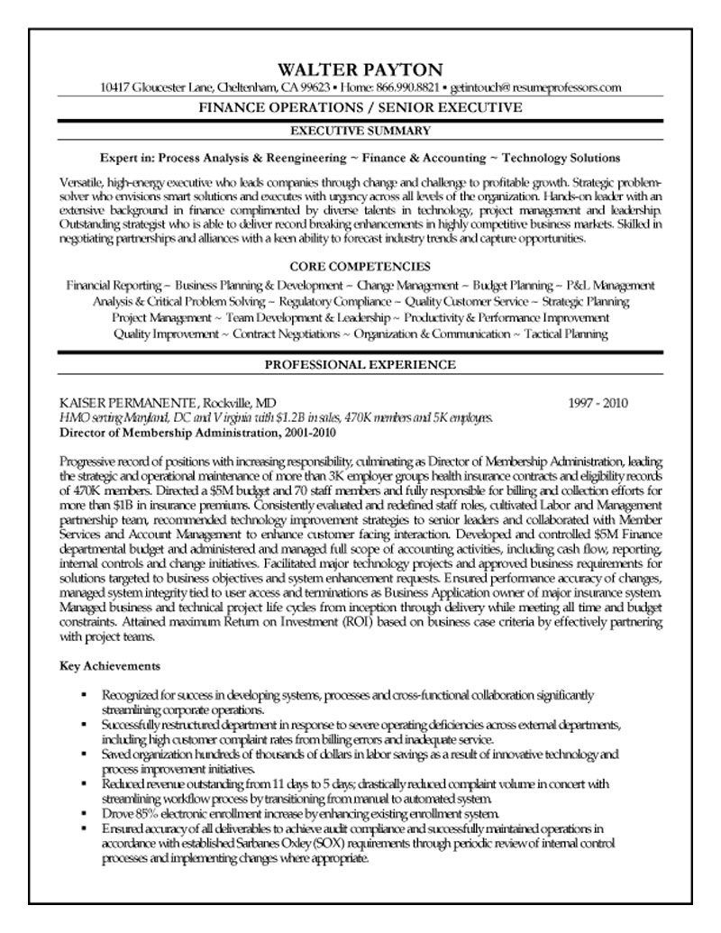 finance executive resume template free summary of example office administrator sample Resume Executive Summary Of Resume Example