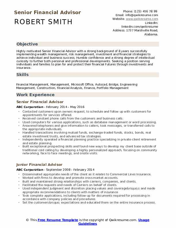 financial advisor resume samples qwikresume investment pdf scientist examples cna with Resume Investment Advisor Resume