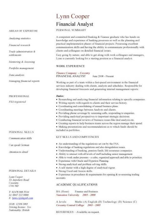 financial analyst cv sample interrogating data services resume pic cover examples strong Resume Financial Analyst Resume