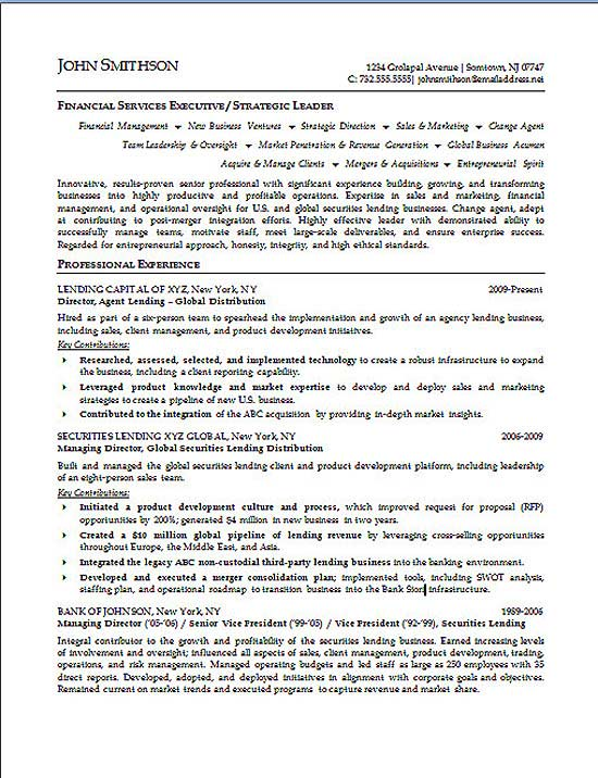 financial executive resume example services summary s3a finance par chapitre therese Resume Financial Services Resume Summary