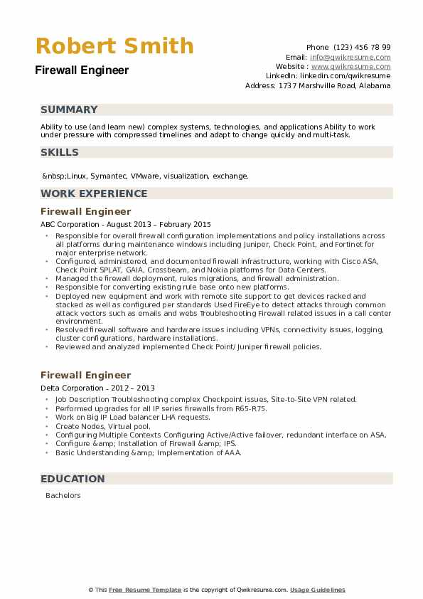 firewall engineer resume samples qwikresume checkpoint pdf good personal skills for holes Resume Checkpoint Firewall Resume