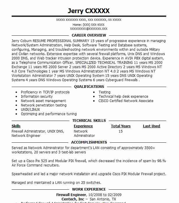 firewall technician resume example check point software inc irving checkpoint scan with Resume Checkpoint Firewall Resume