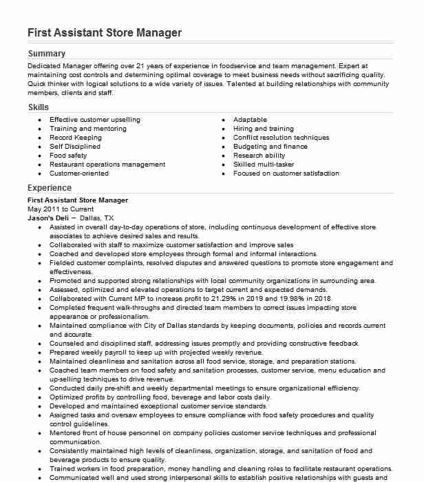 first assistant manager resume example burger crescent city best for data scientist Resume Burger King Assistant Manager Resume