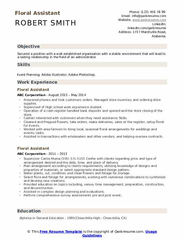 floral assistant resume samples qwikresume pdf make free for freshers summary warehouse Resume Floral Assistant Resume
