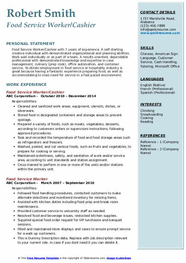 food service worker resume samples qwikresume functional pdf sample of data scientist Resume Functional Resume Food Service Worker