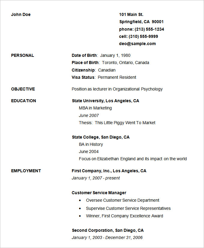 for basic resume sample format permanent resident best biotechnology lawyer objective and Resume Resume For Permanent Resident