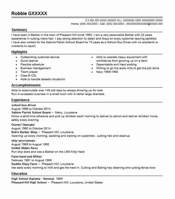 for driver resume templates format school bus audition restaurant supervisor recent Resume School Bus Driver Resume