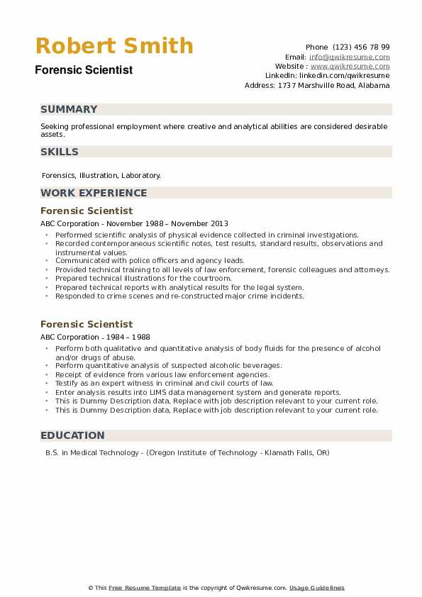 forensic scientist resume samples qwikresume science pdf suggested titles ppc format Resume Forensic Science Resume