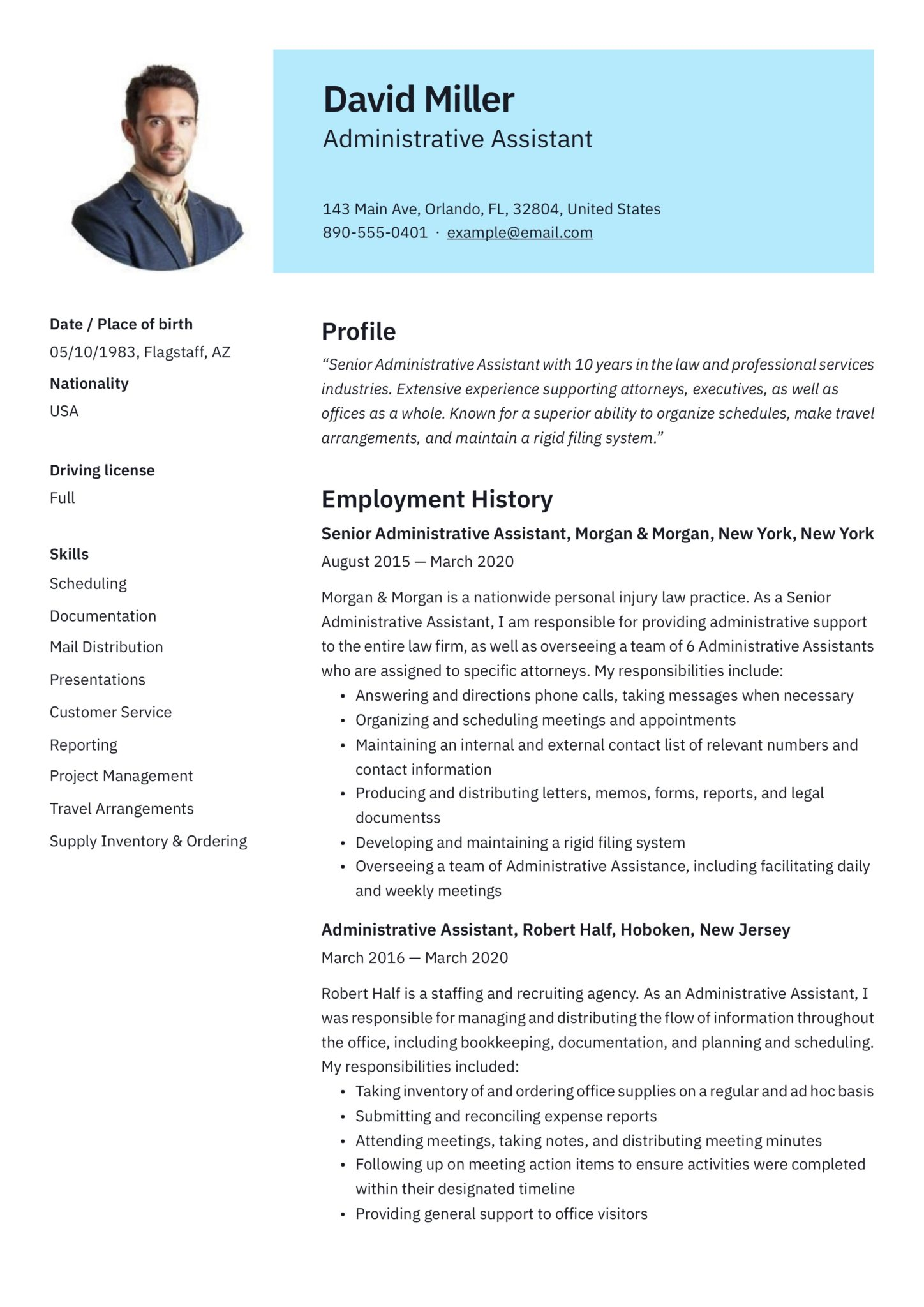 free administrative assistant resumes writing guide pdf resume templates scaled web Resume Free Administrative Assistant Resume Templates