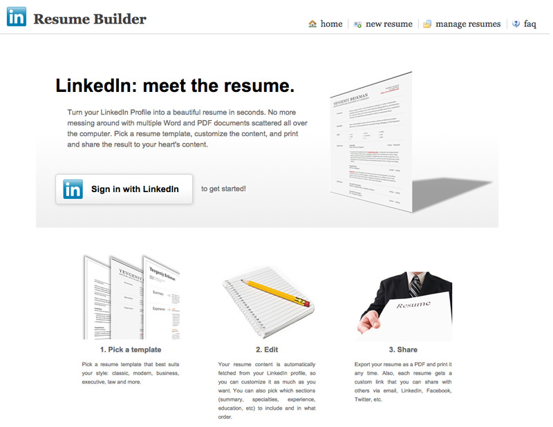 free apps for linkedin you need to know hongkiat best resume builder college objective Resume Best Linkedin Resume Builder