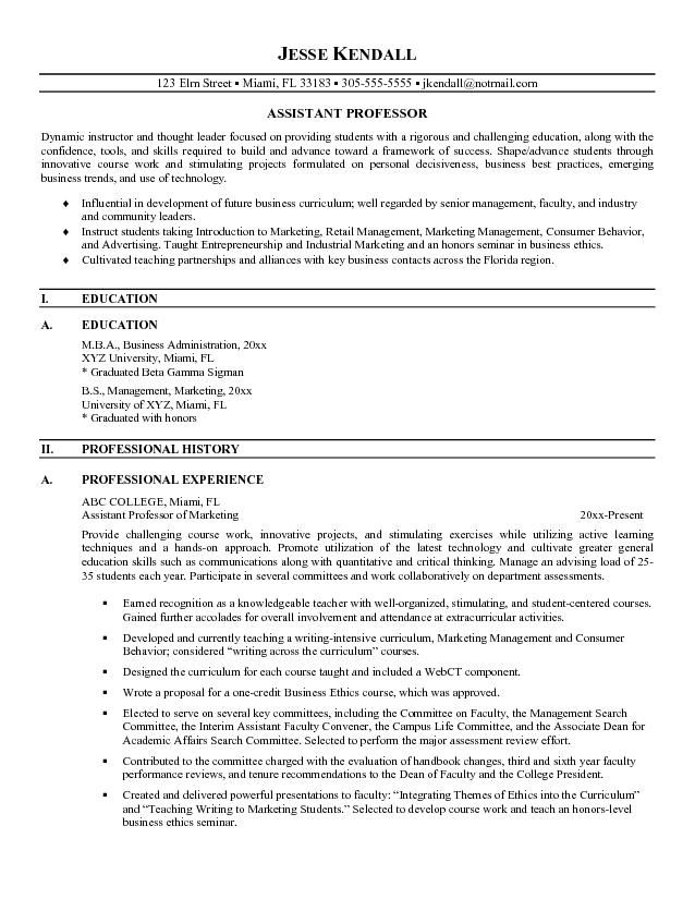 free assistant professor resume example college template teaching community instructor Resume Community College Instructor Resume