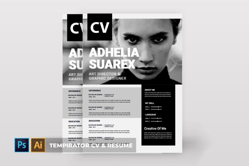 free attractive resume cv templates with stylish designs to template tempirator feature Resume Free Resume Template Download 2020