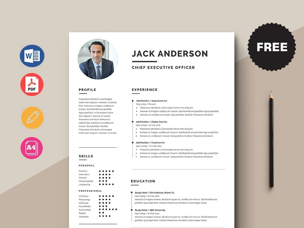 free chief executive officer ceo resume template with simple look word divi theme apparel Resume Ceo Resume Template Word Free