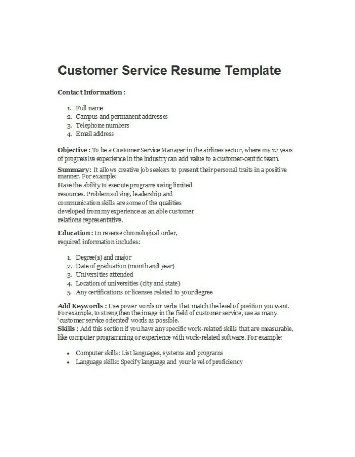 free customer service resume examples template downloads words for best functional format Resume Resume Power Words For Customer Service