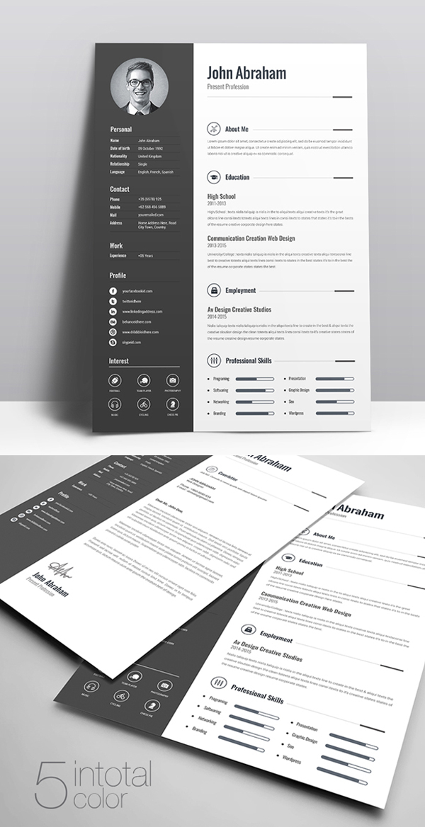 free cv resume templates best for design graphic junctiongraphic junction creative fnp Resume Free Creative Resume Templates 2019