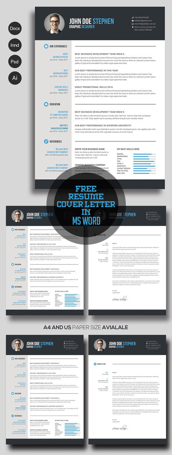 free cv resume templates freebies graphic design junctiongraphic junction ceo template Resume Ceo Resume Template Word Free