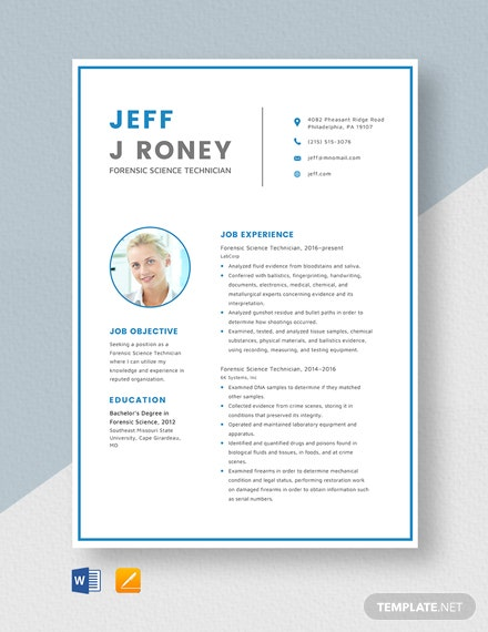 free designer resume cv template word indesign forensic science technician objective for Resume Forensic Science Resume
