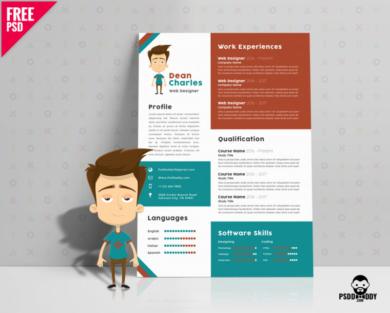 free designer resume template psddaddy web format cover3 office assistant objective Resume Web Designer Resume Format Free Download
