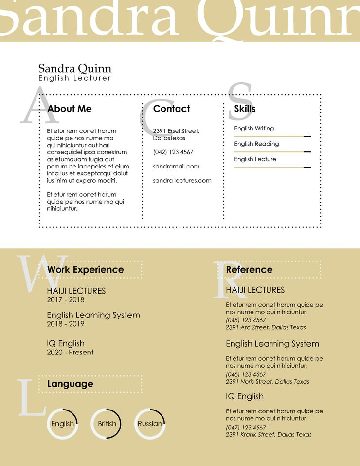 free english lecturer resume cv template in indesign format creativebooster 740x957 Resume English Lecturer Resume