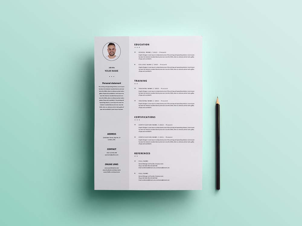 free formal universal resume template with clean design docker indeed now login should Resume Universal Resume Template